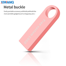 new XIWANG  usb flash drive 32GB 128GB 16GB 8GB 4GB pen drive pendrive 64GB waterproof metal Pink u disk usb stick Free LOGO цена и фото