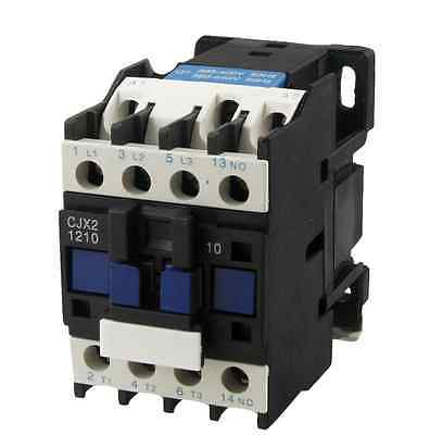 CJX2-1210 AC Contactor 12 Amp 3 Phase 3-Pole NO 380V 50/60Hz Coil sayoon dc 12v contactor czwt150a contactor with switching phase small volume large load capacity long service life