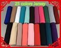 25 цветов обычный эластичный Джерси хиджаб, шаль, wrap шарф, 180*80 см 1 лот, можете выбрать цвета