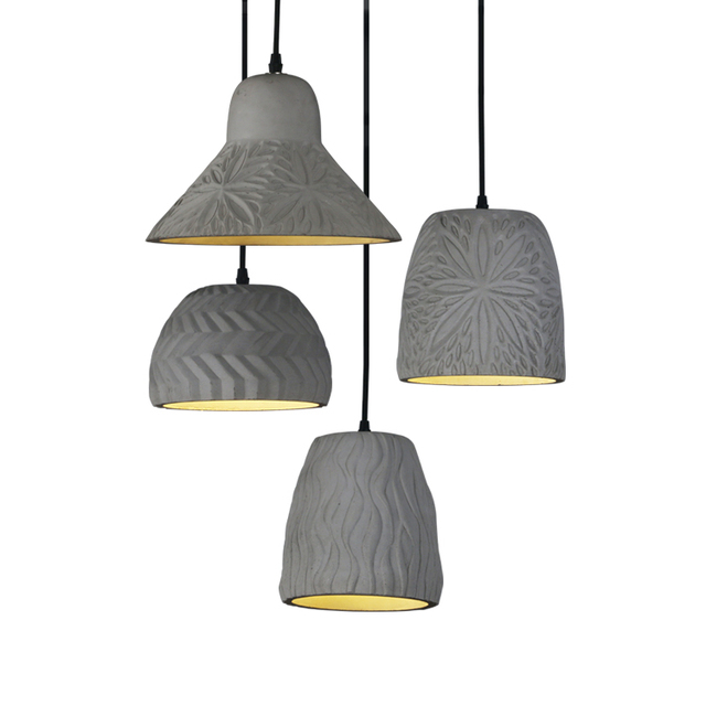 Led Suction Top Industrial Pendant Lights Cement Retro Creative - Individual pendant lights