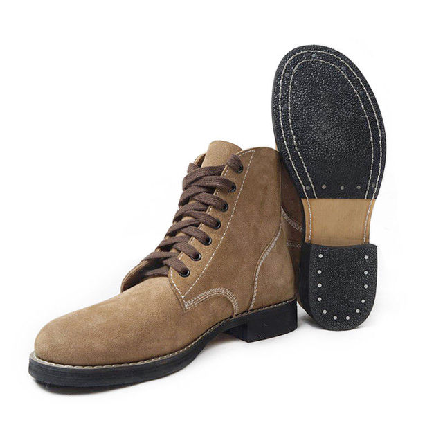 9ca524259aa80 Replica WW2 US Army GI Rough Out Ankle Boots American Leather Boots All  Sizes US/
