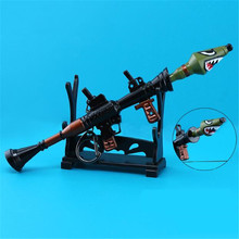Fortnite Battle Royale Accessories Shark Cannon Rocket Key Buckle Metal Alloy Action Figure Hot Toys For Children Birthday Gift