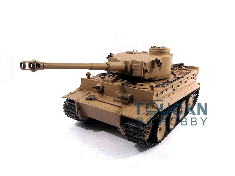 100% metall Mato 1/16 Tiger I RC RTR Tank Modell BB Schießen Pellet Gelb 1220