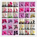 Free Shipping, 20Pairs/Lot Mix Style Mix Color Shoes for barbie doll, Doll Accessories For Barbie Doll, high heels for barbie