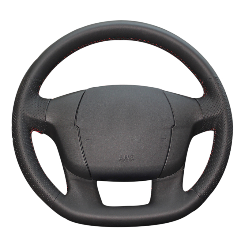 Car Styling DIY Car Steering Wheel Cover for Citroen C4 C4L Hand sewing cover Microfiber leather braid on the steering wheel