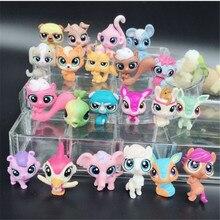 20 adet/grup hayvan oyuncak küçük evcil hayvan aksiyon figürleri oyuncaklar Littlest hayvan dükkanı sevimli kedi köpek patrulla canina aksiyon figürleri çocuklar oyuncaklar