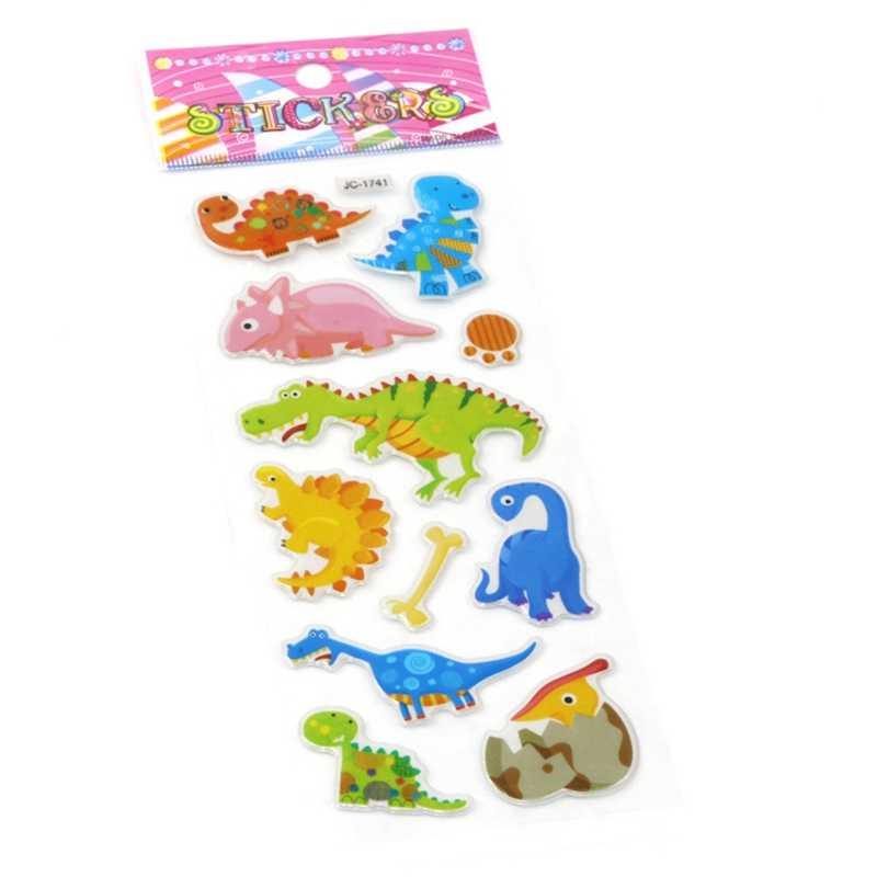 3D пузырьковая наклейка пышные наклейки динозавры мир Юрского периода животные Скрапбукинг мобильный телефон водонепроницаемые наклейки игрушки для детей