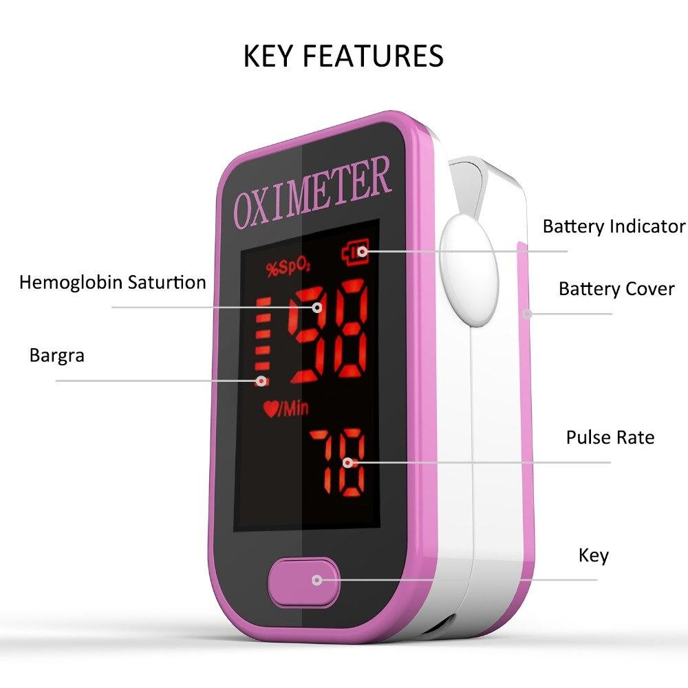 Monitor de Saturação de Oxigênio Heart Rate no Sangue Spo2