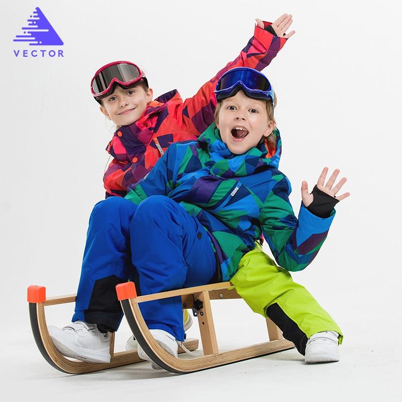 VECTOR Children Ski Jackets Warm Winter Jackets Boys Girls Waterproof Outdoor Sport Snow Skiing Snowboarding Clothing For ChildVECTOR Children Ski Jackets Warm Winter Jackets Boys Girls Waterproof Outdoor Sport Snow Skiing Snowboarding Clothing For Child