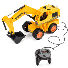 HELIWAY RC Truck Wire Control Excavator Toy Super Power Remote Control Truck Toys RC Electric Engineering Toy for Children
