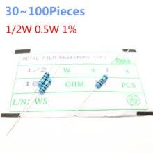 30~100pieces 1/2W  390 ohm 1/2W 1% Radial DIP Metal Film Axial Resistor 390ohm 0.5W 1% Resistors