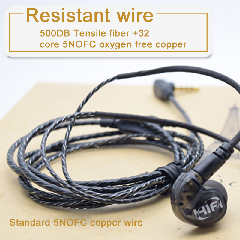 New HIFI A8 Dynamic Unit In Ear Earphone earbuds DIY super bass Earphones With MMCX Calbe Bass Headset for smartphone