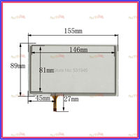 ZhiYuSun 063020 New 6.4inch TOUCH Screen panels 155mm*89mm for GPS  155*89  Freeshipping used clarion GPS CAR