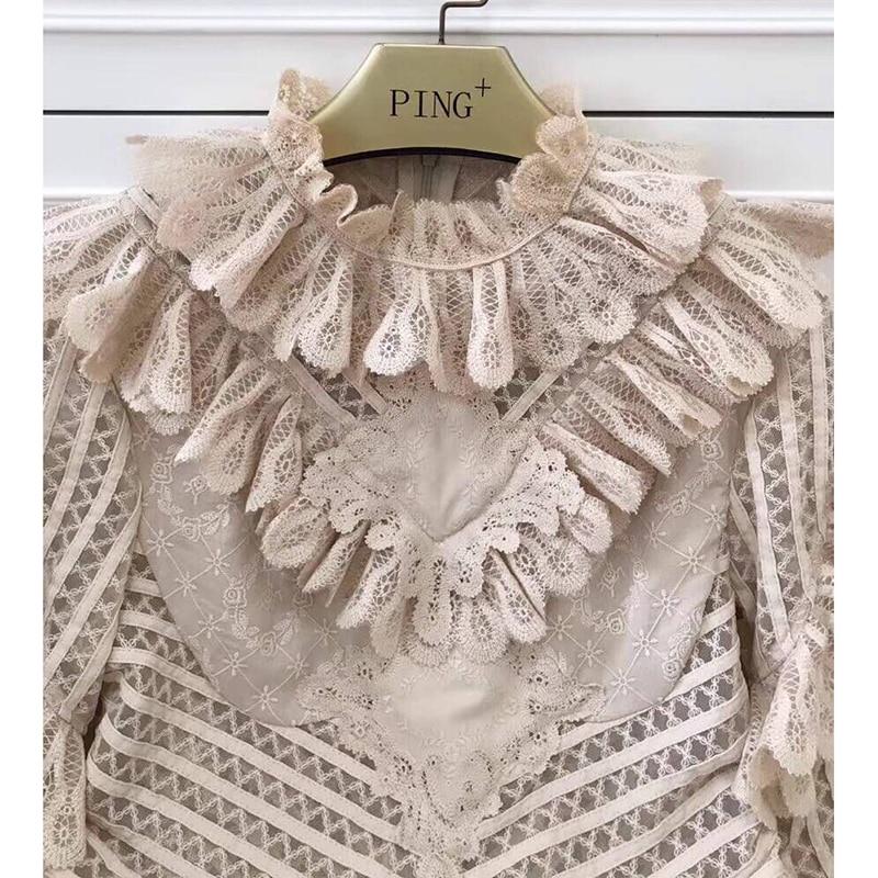 16830f07d3f Noir Volants Voir Femmes Mesh Robes À Moulante Broderie Coton Manches D été  2019 Ziwwshaoyu kaki ...