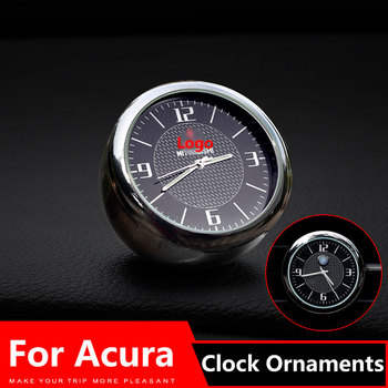 Car Clock Ornaments Air Vents Outlet Clip sticker Logo For Acura mdx tsx rsx integra rdx tlx 2004 2009 2008 Accessories image