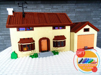 16005 2575Pcs The Simpsons House Model Building Block Compatible 71006 Boy Gift Toys Lepin