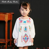 RMBkids Pure Cotton Embroidery Baby Girls Dresses Spring And Autumn New Spanish Style Infant Girl Dress