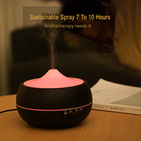 3 Gears Timing Aroma Essential Oil Diffuser Ultrasonic Wood Grain Air Humidifier With LED Lights For