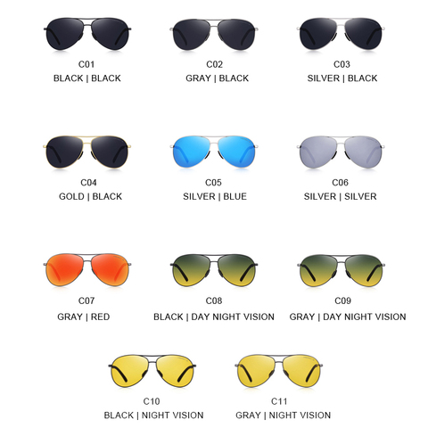 MERRYS DESIGN Men Classic Pilot Polarized Sunglasses Men Driving Shield Night Vision Sun glasses UV400 Protection S8601 Islamabad