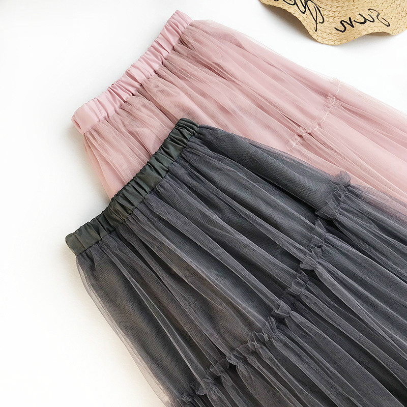 AcFirst Pink Women Skirts Fashion Women 39 s High Waist Ball Gown Mesh Ankle Length Skirt Ball Gown Chiffon Clothing Plus Size in Skirts from Women 39 s Clothing