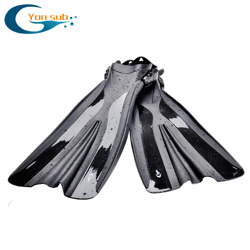 Professional Long Flippers Adjustable Open Heel Scuba Diving Fins Snorkeling Underwater Free Diving Spearfishing Swimming Fins