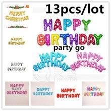 Гелием розовый/синий алфавита днем алюминиевой фольги шар воздушный письмо рождения день