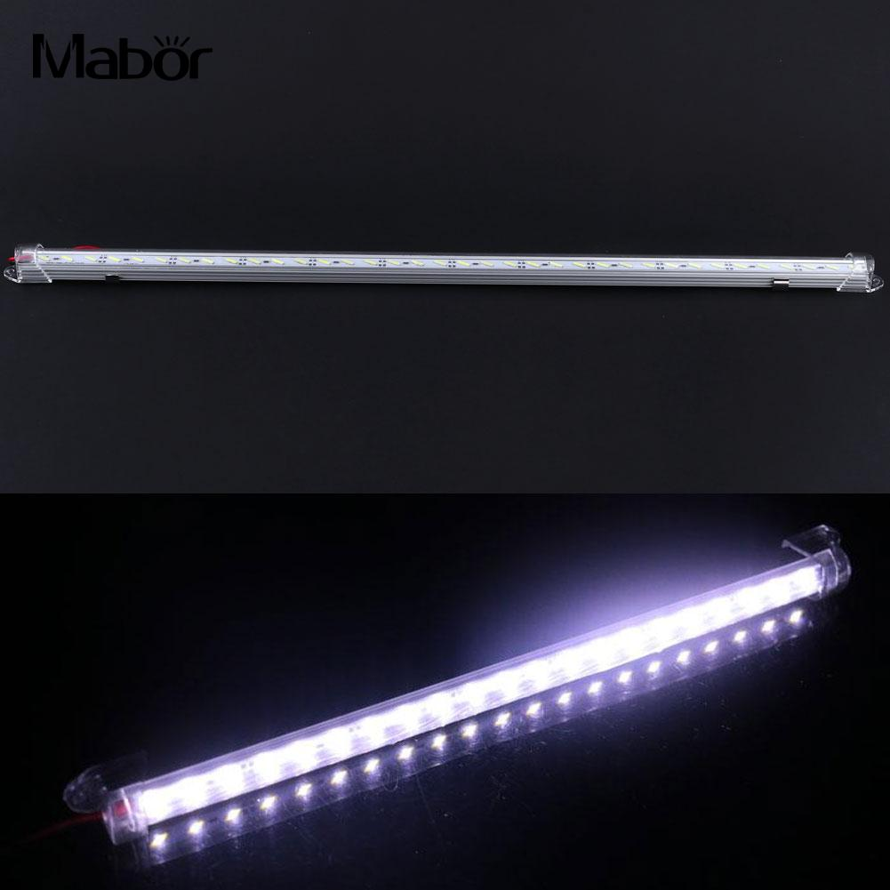50cm 12v 36led 8520smd Rigid Strip Light Aluminum Cover Industrial Home End Cap 36led Light Strip Lamp Chip Drop Shipping