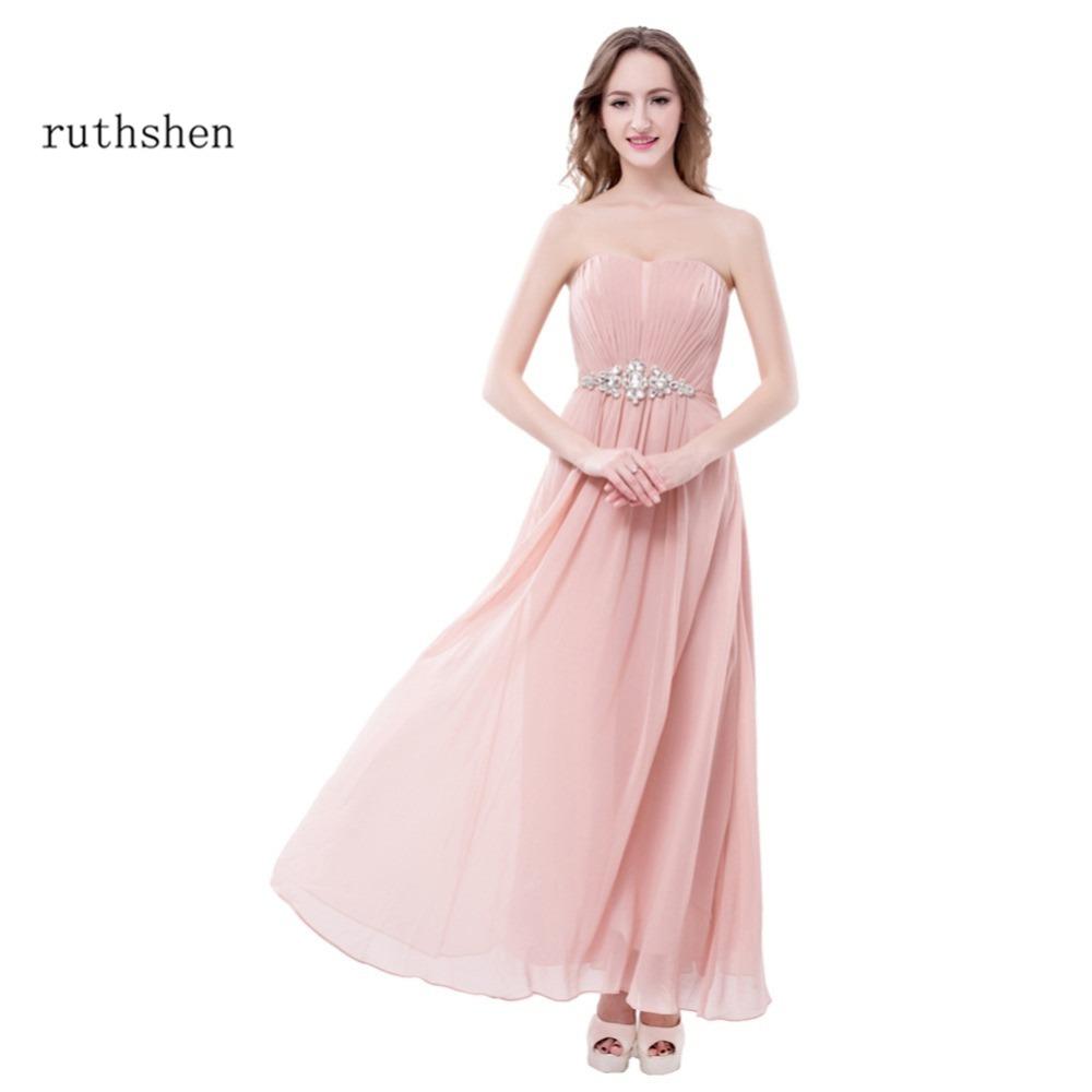 Online Get Cheap Rosa Rhinestone Vestido De Fiesta Largo -Aliexpress ...