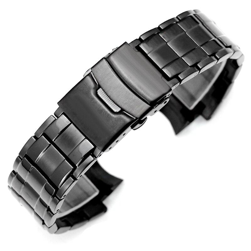 8fb5fdd7fe23 De acero inoxidable correas para CASIO edificio EFX 500D relojes hombres  banda de deporte de alta calidad reloj de pulsera Correa 24 16mm correa de  reloj en ...
