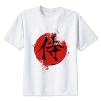 Samurai Kanji Symbol T Shirt Men Fashion High Quality T Shirt Casual White Print Print Male