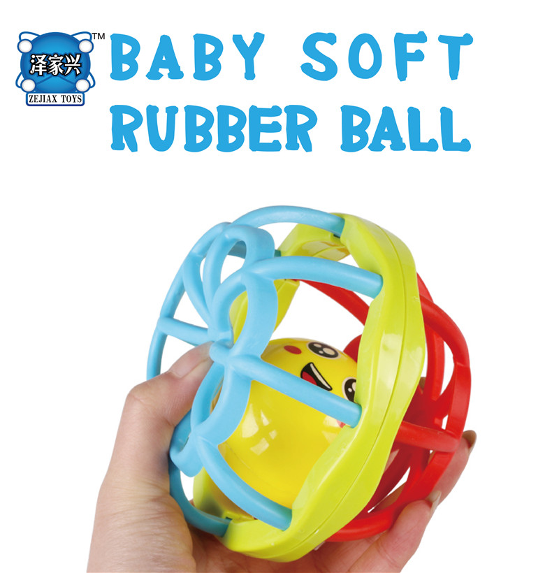 Little Loud shaking Bell Ball Baby Toy Baby Ball Toy Rattles Develop Baby Intelligence Baby Toys soft Plastic Hand Bell Rattle