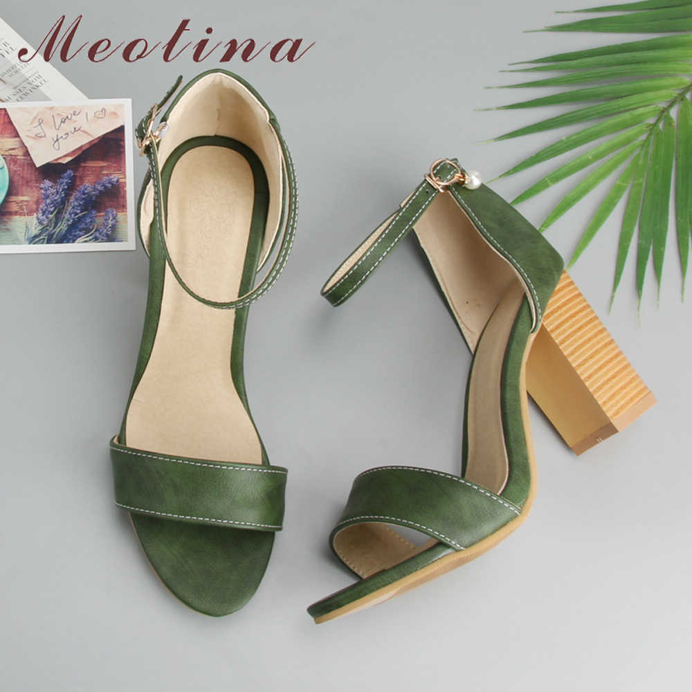 e6467448881 Meotina Women Shoes Sandals 2018 High Heels Cross Strap Gladiator ...