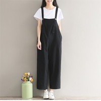 Women Girl Loose Strap Bib Pant Trousers Casual Overall Baggy Pants Trousers For Women 20