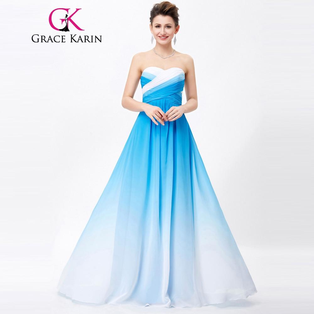 웃 유Grace Karin Evening Dresses 2017 Chiffon Elegant Ombre ...