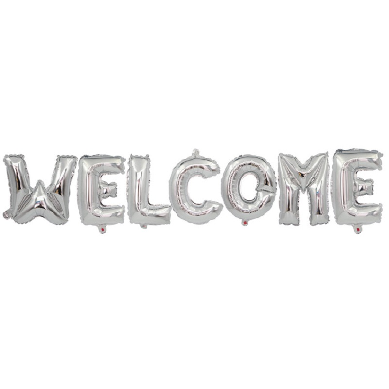 16inch Letter WELCOME Foil Balloons Supermarket Store Decoration Alphabet Air Happy Birthday Party Wedding Celebrations Supplies in Ballons Accessories from Home Garden