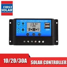 Cargador solar con pantalla LCD de 30, 20, 10 A, 12V, 24V, PWM, controlador de carga solar, USB 5V, usado para batería de plomo y ácido