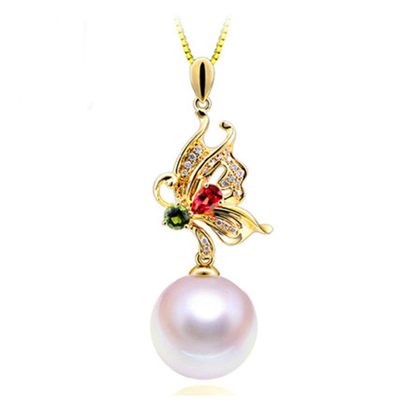 RUNZHUQIYUAN 2017 100% natural freshwater pearl Pendant charm necklace 925 Sterling Silver Jewelry For Women girls wedding