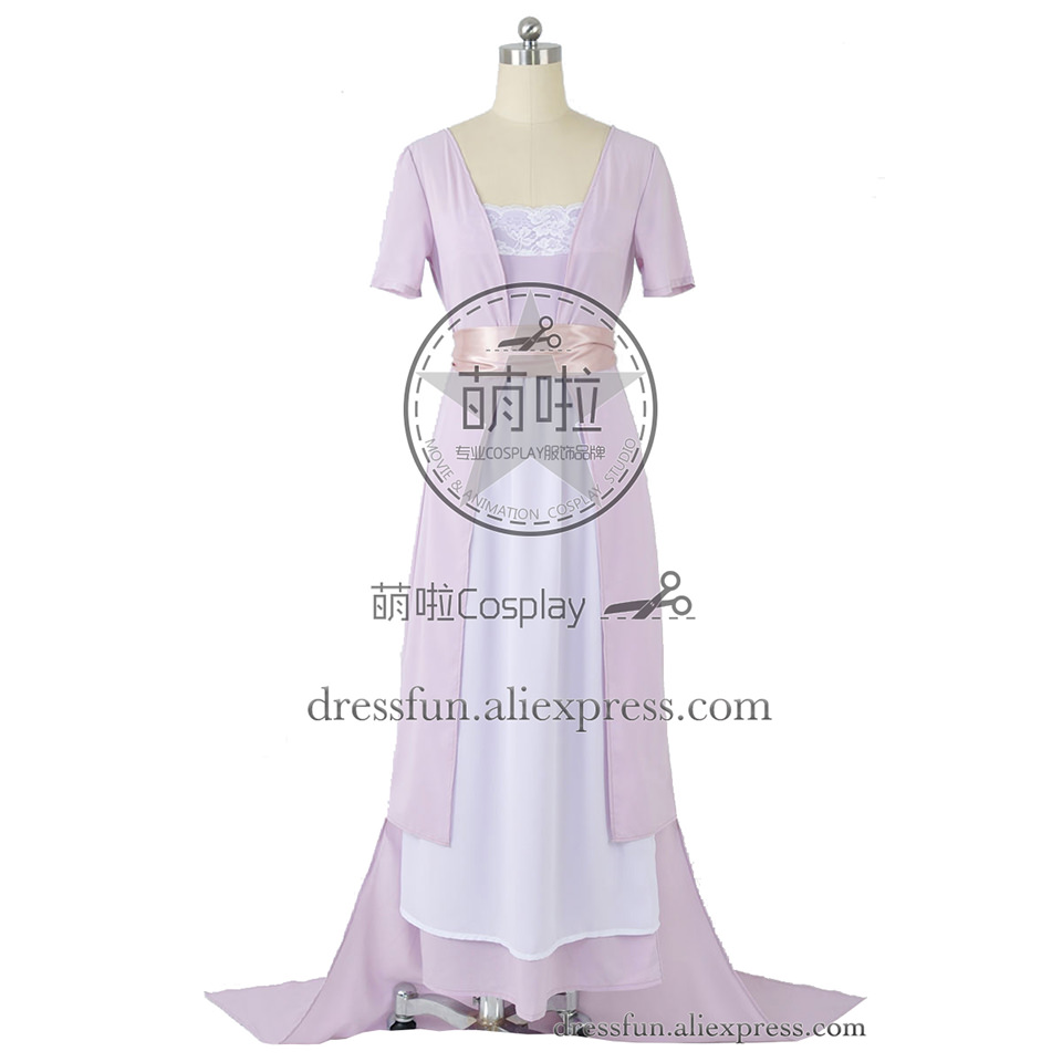 Titanic Cosplay Rose DeWitt Bukater Costume Purple Swim Gown Dress Uniform Suit Outfits Halloween Fashion Party Fast Shipping