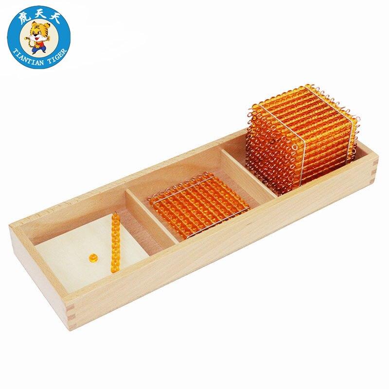 Montessori maths matériel éducatif pour enfants bébé jouets préscolaires Introduction à la quantité décimale avec des plateaux