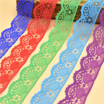 10 Yards Lace Ribbon Tape 40MM Wide White Lace Trim DIY Embroidered Net lace trimmings for sewing Decoration african lace fabric