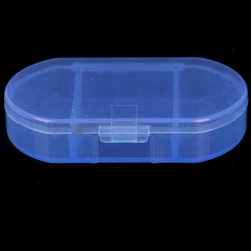 Mini Pil Kotak Obat Perjalanan Pembagi Portabel Biru Alat 3 Grid Obat Tablet Seminggu Kotak Obat Case Wadah Organizer Perawatan Kesehatan