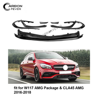 PP CLA Class W117 Front Bumpers For Mercedes W117 AMG Package CLA45 LCL 2016 2018 8PCS/Set