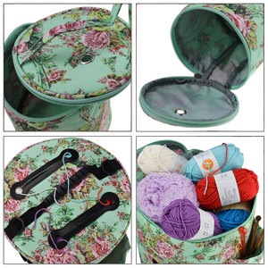 Image 5 - Looen Empty Yarn Storage Bag DIY Weave Crochet Hook Bag 7 Styles Crochet Hook And Knitting Bag For Hooking And Knitting Sewing