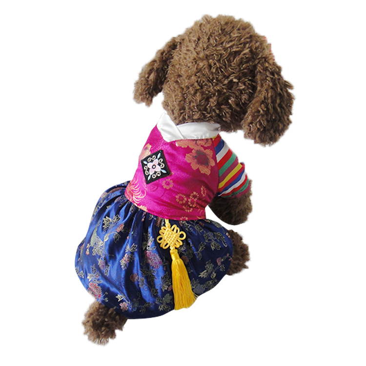 So Cute Korea Classic Princess  Style Pet dogs Dress Free Shiping By CPAM Dogs Clothing