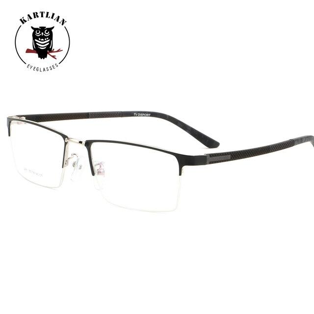 444362308c Kartlian gafas hombres prescripción óptica gafas hombres mujeres gafas  lentes lente transparente squre aleación gafas graduadas