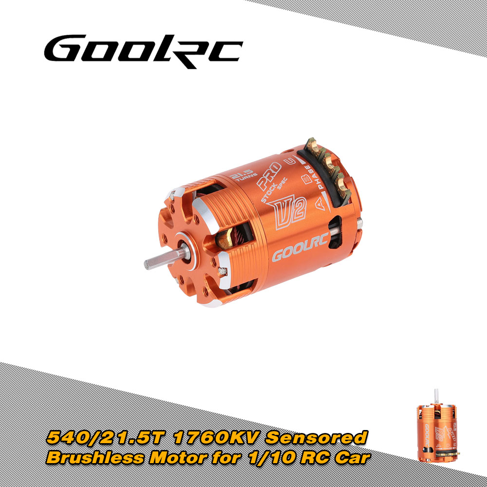 GoolRC 540 21.5T 1760KV Sensored Brushless Motor for RC Car 1/10 Vehicle RC Truck Model Toys Parts High power solder tabs goolrc high quality