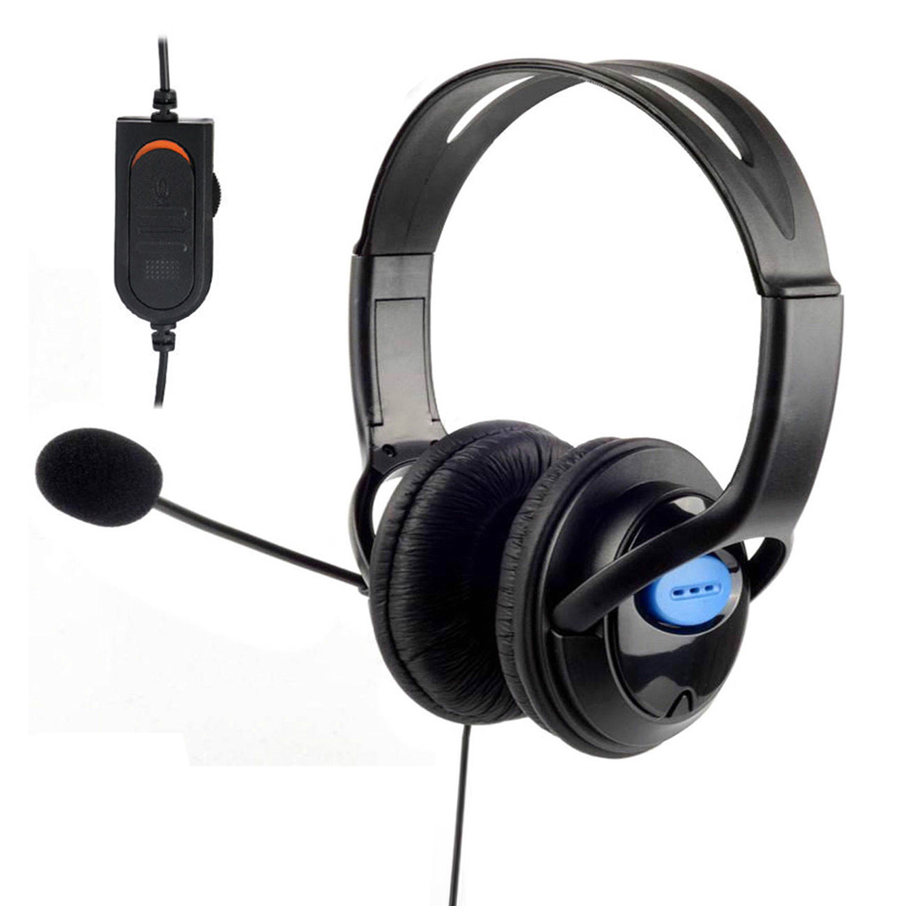 3.5mm Jack Wired Game Headset Headphone Computer Video Games Headphones with Microphone Volume Control for PS4 PlayStation 4