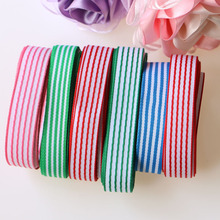 10yards (5 colors mixed) 1(15mm) Stripes grosgrain ribbon printed gift wrap decoration ribbons
