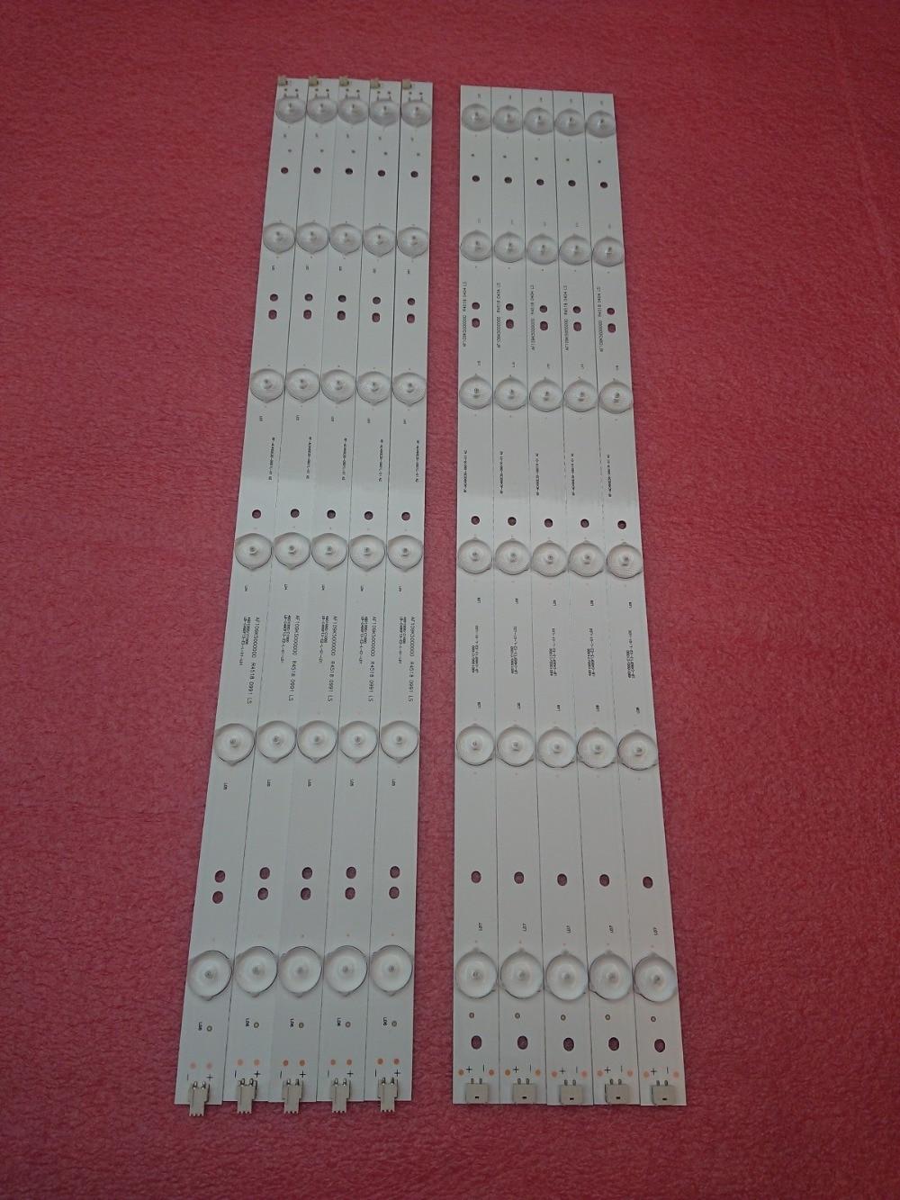 New 10set 100 PCS LED backlight strip for 49D1000 49C1000 850095046 LB C490F13 E2 L G1