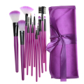 7 Colors Portable 12 pcs/set Cheap Makeup Brushes Set Foundation Powder Fan Brushes Kit Cosmetic Brush Set